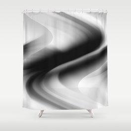 DREAM PATH (Black, Grays & White) Shower Curtain