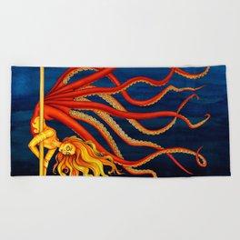 Pole Creatures - Mermaid Beach Towel
