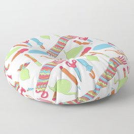 Quirky Pattern Floor Pillow