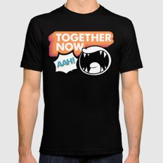 Together Now... AAH! MEDIUM Mens Fitted Tee Black
