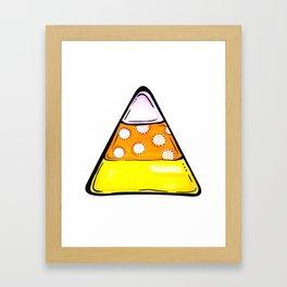 Candy Corn - White Framed Art Print