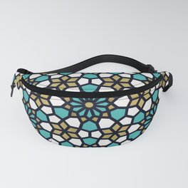 Persian Mosaic – Turquoise & Gold Palette Fanny Pack