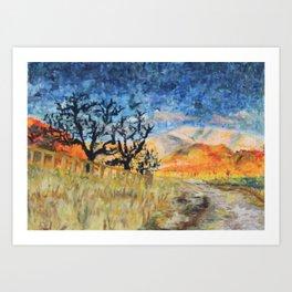 Boise Foothills no. 1 Art Print