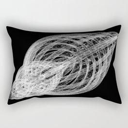 GEOMETRIC NATURE: SLICED SHELL b/w Rectangular Pillow