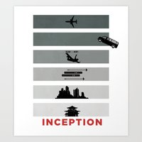inception Art Prints featuring Inception by Duck Cartel