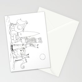 """THE CREW """"The invaders from Zxarcodol"""" series Stationery Cards"""