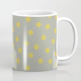 Simply Dots Mod Yellow on Retro Gray Coffee Mug