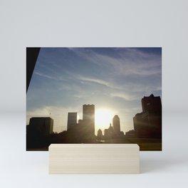St. Louis skyline sunset Mini Art Print