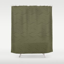 Hemlock Finch Stitched Shower Curtain