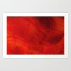 Red glass Art Print