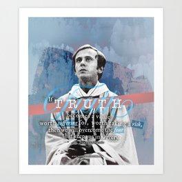 """Bl. Jerzy Popieluszko """"Truth"""" Art Print"""