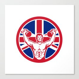 British Physical Fitness Union Jack Flag Icon Canvas Print