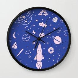 Come into my galaxy Wall Clock