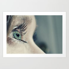 The love in her eyes Art Print