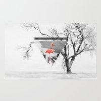 flamingo Area & Throw Rugs featuring Flamingo by Mehdi Elkorchi