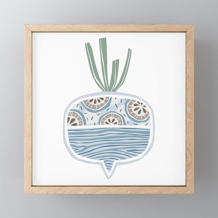 Turnip Framed Mini Art Print