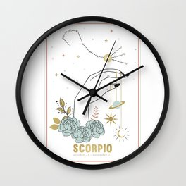 Scorpio Zodiac Series Wall Clock