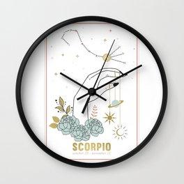Scorpio Zodiac Series Wall Clock