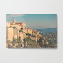 Gordes - old Medieval town Gordes in Provence, France Metal Print
