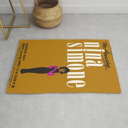 1963 African American Classic Carnegie Hall Nina Simone Gig Concert Poster Rug
