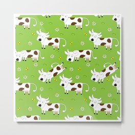 Cow Pattern | Cow Spots Farm Farmer Animal Milk Metal Print