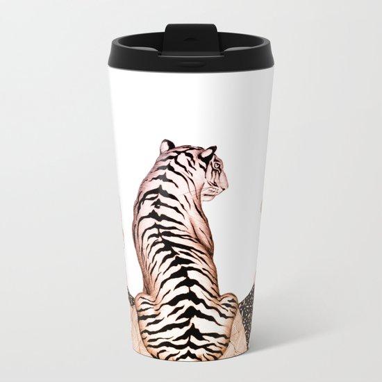 Tiger Moon Glow Metal Travel Mug