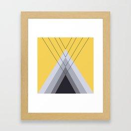 Iglu Primrose Yellow Framed Art Print