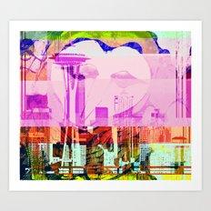 Seattle | Project L0̷SS   Art Print