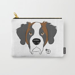 St Bernard Face Carry-All Pouch