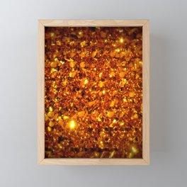 Copper Sparkle Framed Mini Art Print