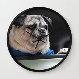Pug Ride Wall Clock