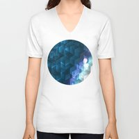 dna V-neck T-shirts featuring DNA Cube by Tony Vazquez