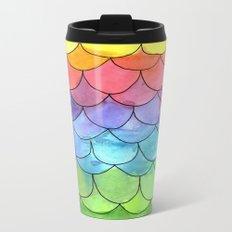 Rainbow Scales Metal Travel Mug