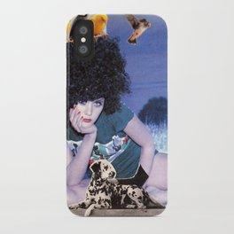 The girl with a bird's nest in her hair iPhone Case