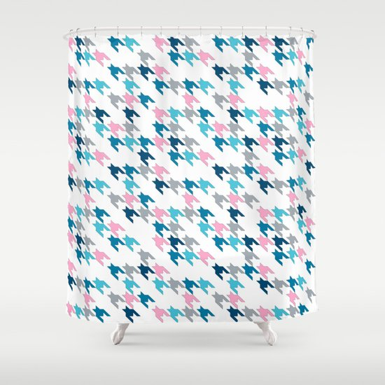 Pink Tooth Shower Curtain