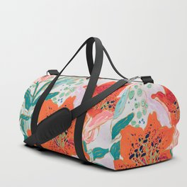 Orange Lily Duffle Bag