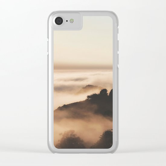 Mountain Fog #sun Clear iPhone Case