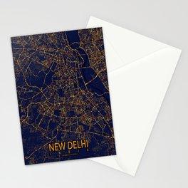 New Delhi, India - City At Night Stationery Cards