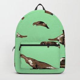 Platypus Ornithorhynchus anatinus green Backpack