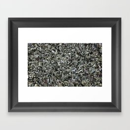 Explosions To Static Framed Art Print