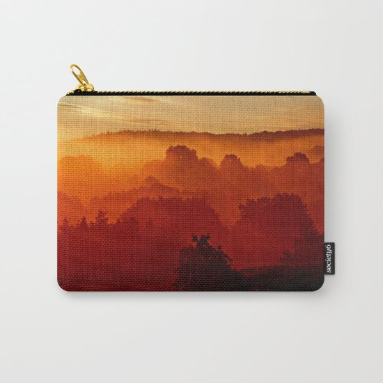 Mystical foggy morning Carry-All Pouch