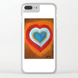 Corazón abstracto. Clear iPhone Case