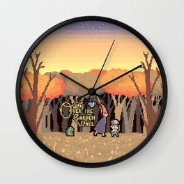 Over the Garden Pixel Wall Clock