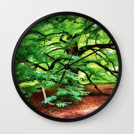 Century Oak Tree Wall Clock