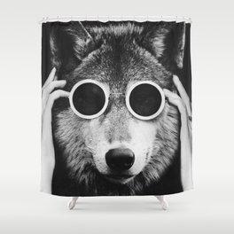Wolf Glam Shower Curtain