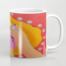 Hair Spray Abstract Digital Painting  Coffee Mug