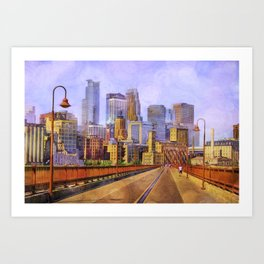 The city is calling my name today. Art Print
