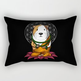 Guinea Pig Zen Yoga Meditation Cavy Pet Rectangular Pillow