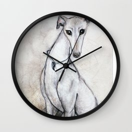 The Greyhound Wearing His Thorn Wall Clock