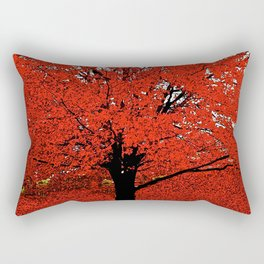 TREES RED Rectangular Pillow